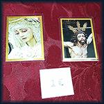 Estampas plastificadas Cristo y Virgen